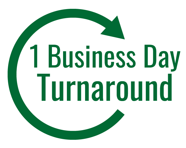 1-business day turnaround service