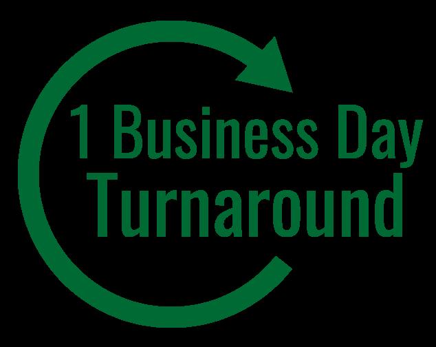 1-business day turnaround service
